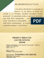 Dan Vasile Ioan Proiect de lectie
