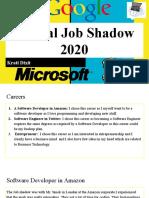virtual job shadow 2020