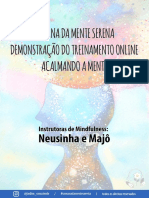 PDF SEMANA DA MENTE SERENA