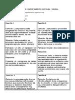 CASOS DE COMPOPORTAMIENTO INDIVIDUAL Y GRUPAL