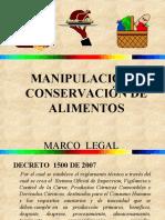 PRESENTACION DE MANIPULADORES DE  ALIMENTOS