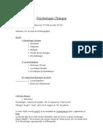 (Cours - Fr) Psychologie Clinique.doc
