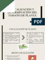 Localización y determinación del tamaño de planta