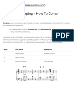 Jazz Piano Comping - How to Comp - The Jazz Piano Site