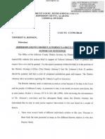 JeffCo DA New Trial Request in Toforest Johnson Capital Murder Case