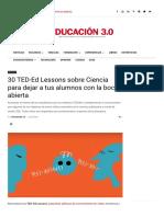 30 TED-Ed Lessons sobre Ciencia para dejar a tus alumnos con la boca