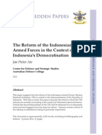 """The Reform of the Indonesian  Armed Forces in the Context of  Indonesia's Democratisation"" by Jan Pieter Ate"
