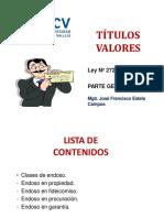 CLASE 4 - TITULOS VALORES
