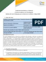 Syllabus  del curso Pedagogía para la Solución de Conflictos