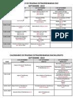 PRUEBAS EXTRAORDINARIAS 2018-2019_Septiembre