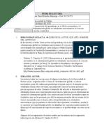 FICHA DE LECTURA_Ideas previas del aprendizaje en el efecto invernadero y el calentamiento global en estudiantes universitarios de ciencias exactas y naturales.