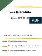 Granulats ESTP