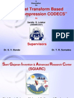 Wavelet Transform Based Image Compression CODECS