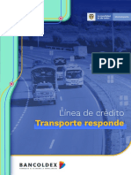 ABC Bancoldex Línea de crédito para empresas de transporte terrestre y fluvial