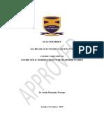 37. BEF121 Introduction to Development Studies
