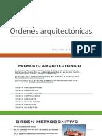 Ordenes arquitectónicas