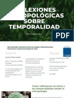 REFLEXIONES ANTROPOLÓGICAS SOBRE TEMPORALIDAD