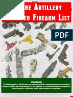 Arcane Artillery Firearms