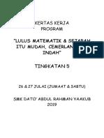 Kertas Kerja Matematik dan Sejarah 2019