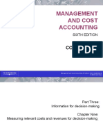 Cost and Management Accounting Chapter 09