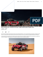 MINI presenta dos versiones del John Cooper Works para el Dakar 2018