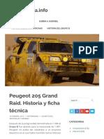 Peugeot 205 Grand Raid. Historia y ficha técnica – MotorMania.info