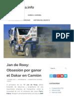 Jan de Rooy_ Obsesión por ganar el Dakar en Camión – MotorMania.info