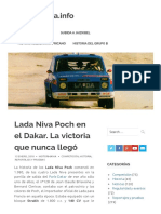 Lada Niva Poch en el Dakar. La victoria que nunca llegó – MotorMania.info