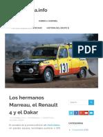 Los hermanos Marreau, el Renault 4 y el Dakar – MotorMania.info