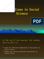 3. Introducing disciplines with the social sciences