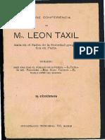 Conferencia de Leo Taxil 1897