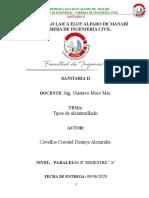 TIPOS DE ALCANTARILLADO