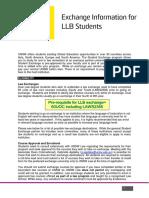 Law Exchange Information Sheet Llb Current