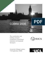 Multiple Decisive Factor Model Construction Procurement Cobra 2006