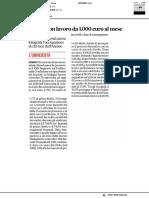 Dottori con lavoro da 1000 euro al mese - Il Corriere Adriatico del 12 giugno2020
