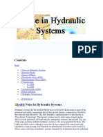 Noise in Hydraulic