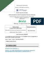 Gestion des Crédits et Encaissements Documentaires à l'Importation