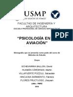 PSICOLOGIA EN LA AVIACION METODOS