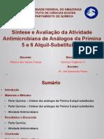 Apresentação sobre Síntese de Fármaco