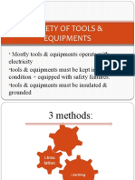 Safety of Tools & Equipments