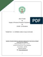 TENDER DOCUMENT FOR PPE PDF FORMAT