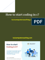 How to Start Coding in c