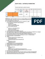 Laborator 1 - Excel - Formatare și editare