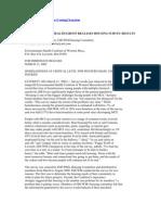 Environmental Health Group (2002). MCS Housing Survey
