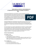 Fulbright International Science and Technology Award for Outstanding Algerian Students 2012