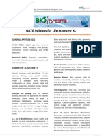 Gate Syllabus Life Science-XL And Pattern