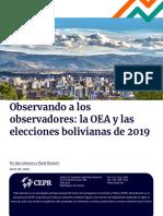 Informe Cepr-observando a Los Observadores de La Oea-no Hubo Fraude en Bolivia