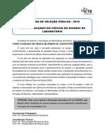CHAMADA PUBLICA ATUALIZACAO EM CAL 2019