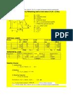 septhik tank retaining wall analysis and design correction