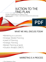 Introduction to the Marketing Plan